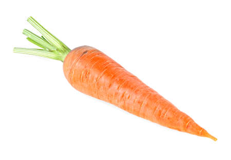 Photo pour Ripe carrot isolated on a white background - image libre de droit