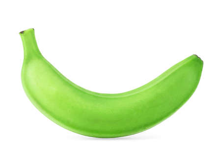 Photo for Green banana isolated on a white background - Royalty Free Image