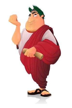 Illustration pour Caesar, Roman Senator. - image libre de droit