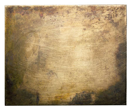 Brass plate texture old metal background