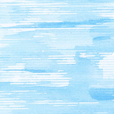 Abstract blue watercolor background texture.