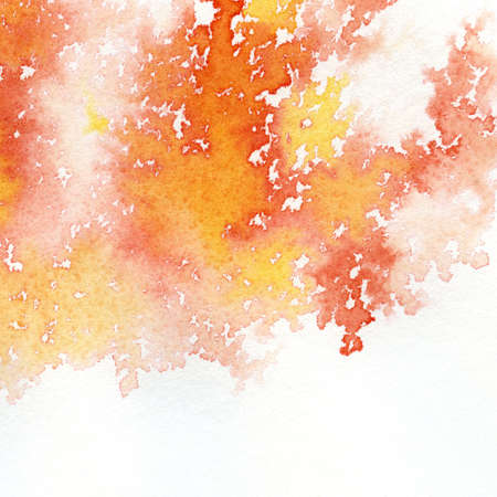 Abstract Red Orange Watercolor