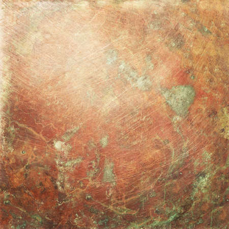 Copper Plate Texture Old Metal Background