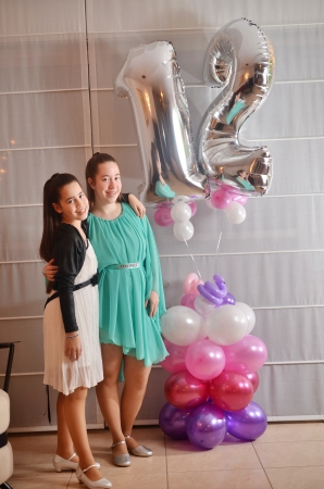 Secular 12-year-old Israeli teenager celebrating her Bat Mitzvah with her older sister