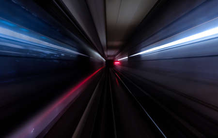 Photo for Subway tunnel motion speed rail - Royalty Free Image