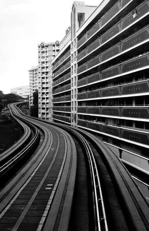 Foto per city railway system in residential area view - Immagine Royalty Free