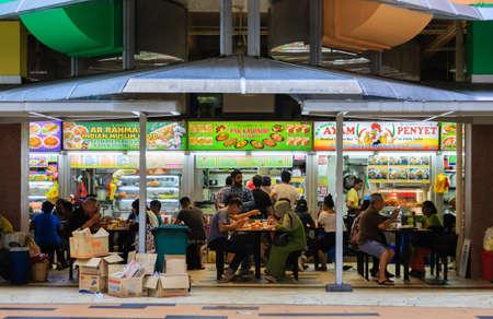 Photo for Singapore-17 MAR 2018:Singapore little Indian area Tekka Centre food court facade - Royalty Free Image