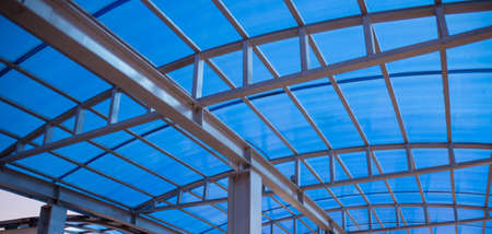 Photo for Modern design iron and glass roof - Royalty Free Image