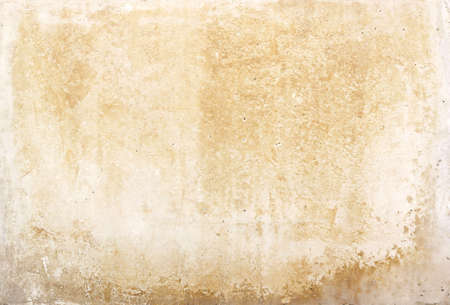 Foto de old blank stone wall or dirty paper texture background in white or beige color with moisture - Imagen libre de derechos