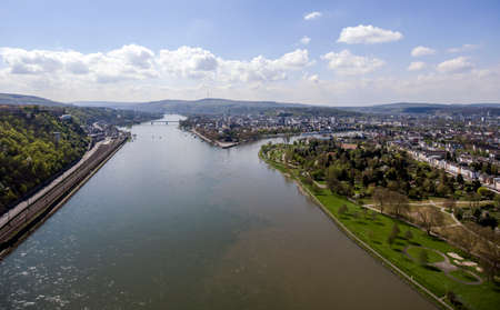 Koblenz City Germany with historic German Corner where Rhine and moselle flow together 6