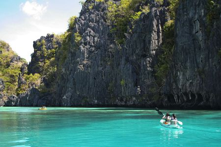 stunning landscapes around el nido palawan island, in the philippines