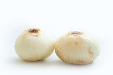 Photo for Two bulb onions isolated on a white background - Royalty Free Image
