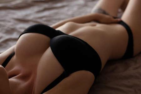 Photo pour sexy woman touching herself - image libre de droit