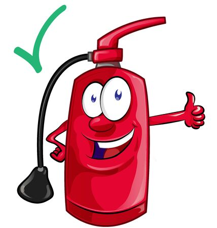 Illustration for Cartoon mascot  of fire extinguisher . illustration - Royalty Free Image