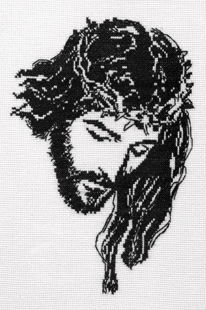 Jesus Christ cross stitch.