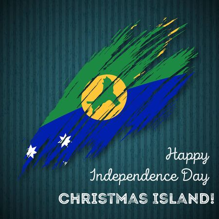 Patriotic Christmas Background.Christmas Island Independence Day Patriotic Design