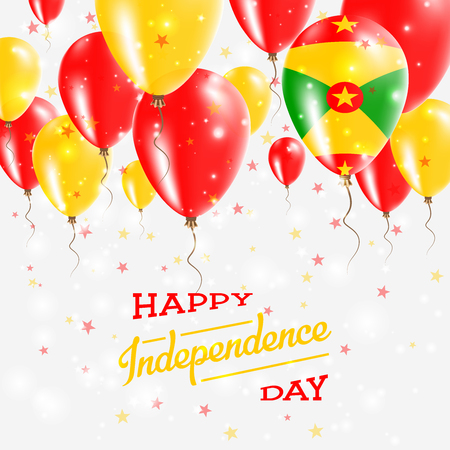 Grenada Vector Patriotic Poster  Independence Day Placard