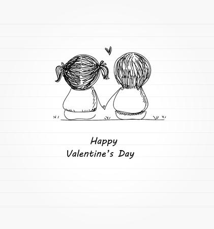 Ilustración de valentine  's day - Imagen libre de derechos