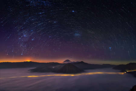 Startrail from top of mountain