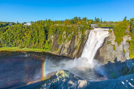 Rainbow at Montmorency Falls, Quebec Canada