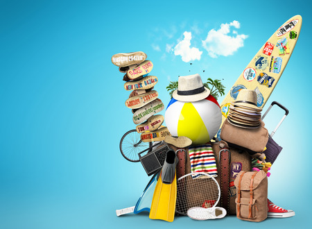 Luggage, goods for holidays, leisure and travel