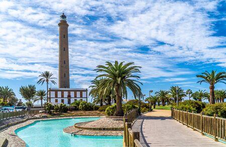 Foto für Landscape with Maspalomas Lighthouse, Grand Canary, Spain - Lizenzfreies Bild