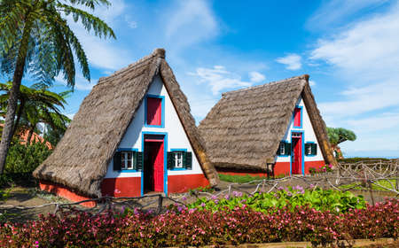 Photo pour Traditional rural house, Santana Municipal Council, Madeira island, Portugal - image libre de droit