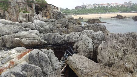Architecture and nature of Santander. Stunning northern Spain, waves, sea lions, cliffs and wonderful beaches. Unusual buildings and the Peninsula of La Magdalena