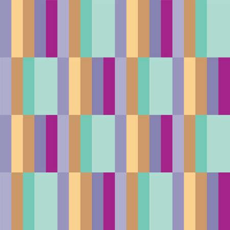 Illustration pour Vector multicolored vertical stripes seamless pattern background - image libre de droit