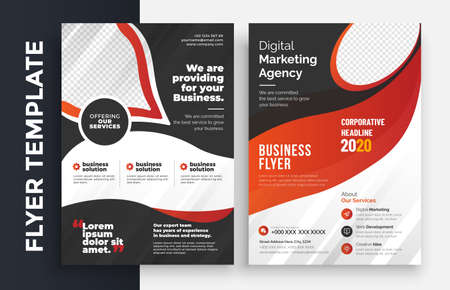Illustration for Corporate Business Flyer poster pamphlet brochure cover design layout background, two colors scheme, vector template in A4 size - Vector - Royalty Free Image