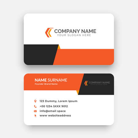 Illustration for simple horizontal business card template design with vector - Royalty Free Image