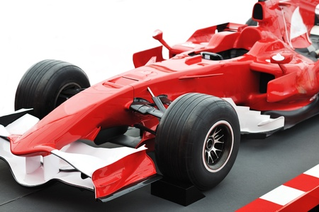 Photo pour formel 1 one auto fast red  car isolated on white background in studio representing power and speed concept - image libre de droit