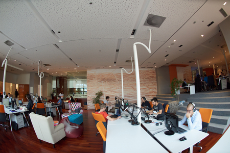 Photo pour startup business people group working everyday job  at modern office - image libre de droit