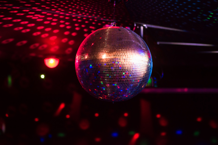 Foto de Disco ball light reflection - Imagen libre de derechos