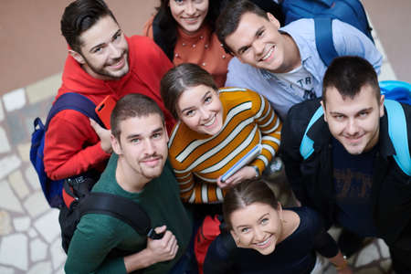 Photo for students in school together in problem - Royalty Free Image