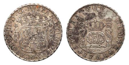 Photo pour Mexico silver coin 8 real 1768 - image libre de droit