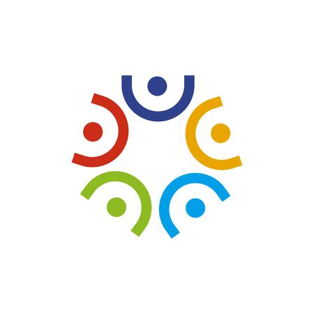 Illustration pour Community and adoption care logo design vector template - image libre de droit
