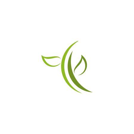 Illustration pour Eco green leaf icon logo design inspiration vector template - image libre de droit