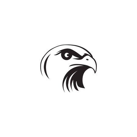 Illustration for Eagle bird icon logo design inspiration vector illustration template - Royalty Free Image
