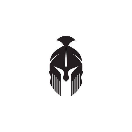Illustration pour Spartan warrior helmet logo design vector illustration template - image libre de droit