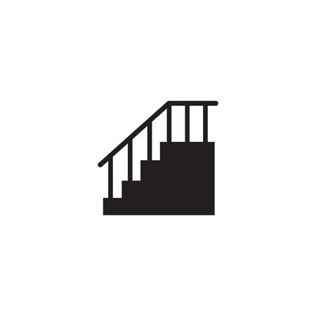 Illustration for Stair icon logo design icon vector illustration template - Royalty Free Image