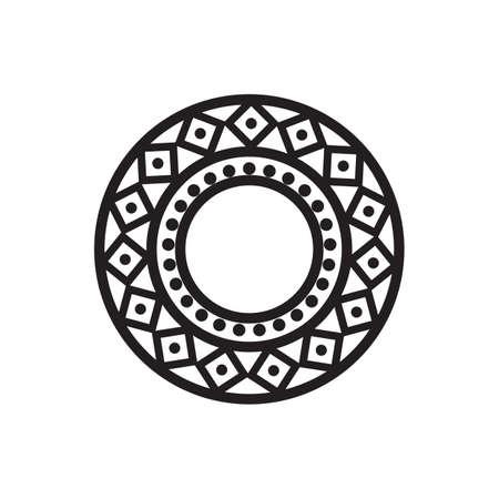 Illustration pour Mandala design for Henna, Mehndi, Tatoo, Decoration and ornament in black circular pattern - image libre de droit