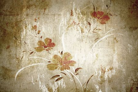 Floral vintage wallpaper and background