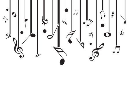 High quality vector music notes with lines