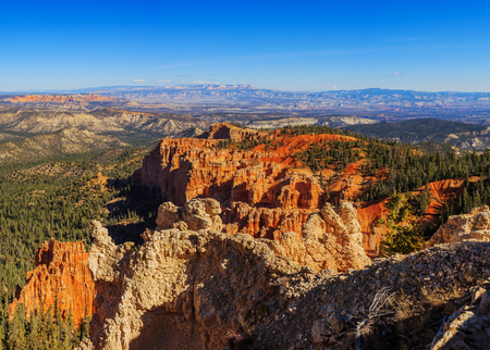 Handsome rock formation. Hoodoos in Bryce Canyon National Park. Utah, United States