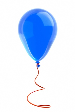 a balloon with ribbon on white