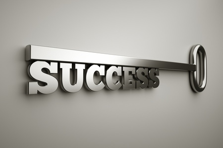 a key with word success, busines concept
