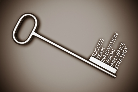 Photo for a key with words, business concept - Royalty Free Image