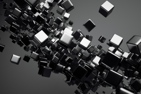 Foto de a black cubes abstract background - Imagen libre de derechos