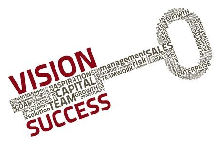 Illustration pour key with business words - image libre de droit